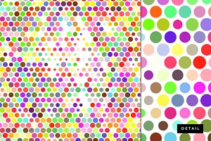Colorful dots abstract texture