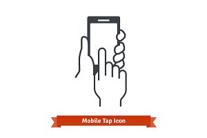 Mobile tap icon