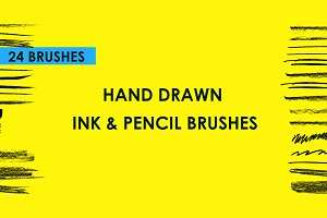 Hand Drawn Ink & Pencil Brushes