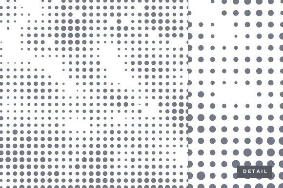 abstract dot half tone pattern textures creative market. Black Bedroom Furniture Sets. Home Design Ideas