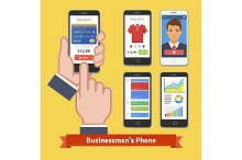 Businessman's smartphone