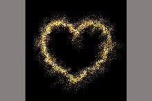 Vector gold shiny heart