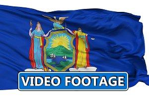 Waving National Flag of Maine