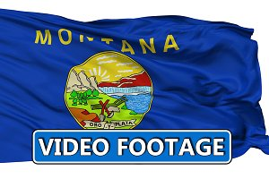 Waving National Flag of Montana