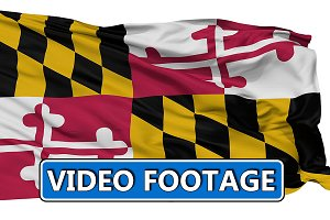 Waving National Flag of Maryland