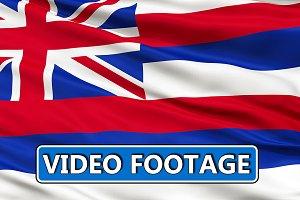 Waving National Flag of Hawaii