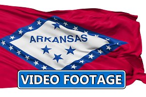 Waving National Flag of Arkansas