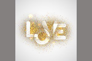 LOVE, gold letters.