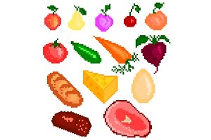 Food pixelart