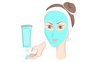 Girl with make up Face mask