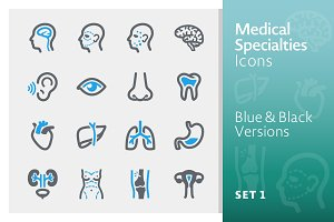 Medical Specialties Icons - Set 1