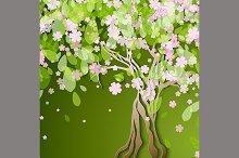 stylized spring tree
