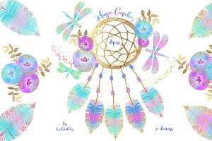 Dream Catcher elements, whimsical