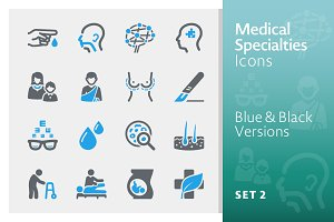 Medical Specialties Icons - Set 2