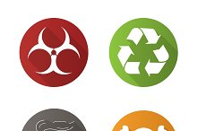 Chemical industry icons. Vector