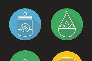 Tea shop icons. Vector