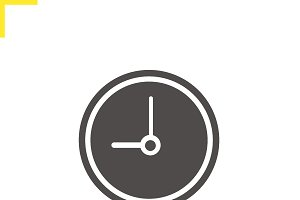 Clock icon. Vector