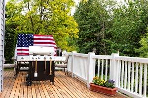 USA outdoor home picnic