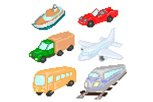 Transport pixelart