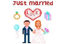 Wedding Pixelart