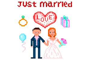 Wedding Pixelart