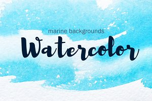 Marine watercolor backgrounds