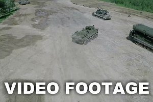 Flying over military vehicles
