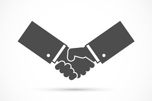 Businessman handshake illustration