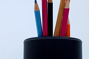 pencils in a holder pencil