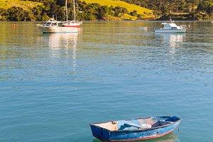 Akaroa Harbor in New Zealand
