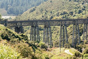 Taieri Gorge tourist railway NZ