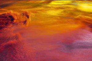 red sky cloudscape