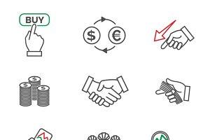 Stock line icons