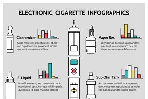Electronic cigarette infographics