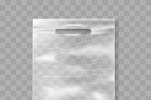 Plastic bag template