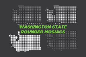 Washington State Mosiac Rounded