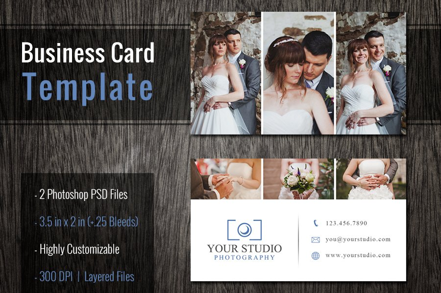 Photoshop Business Card Template PSD Business Card Templates - 35 x2 business card template