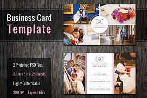 Business Cards for Photographers PSD