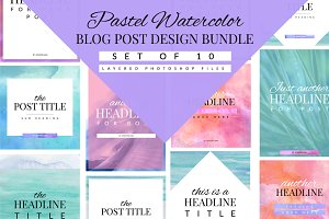 Pastel Blog Template Bundle
