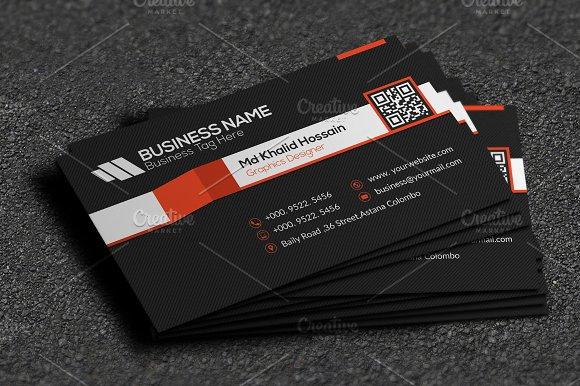 Stripe Cool Business Card Business Card Templates Creative Market