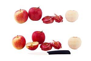 set of photos apples