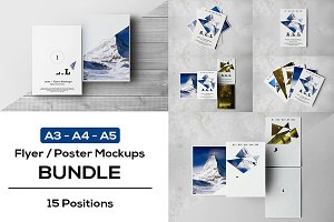 A3-A4-A5 Flyer Mock-Ups BUNDLE