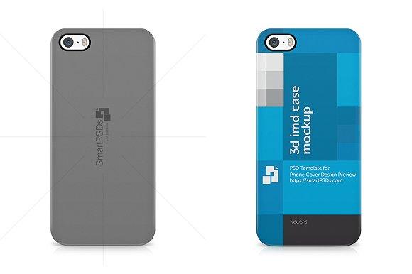 iPhone 5-5s 3d Case Back Mock-up