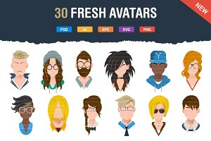 30 Fresh & Modern Avatars