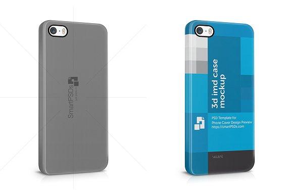 Iphone 5 case design template psd