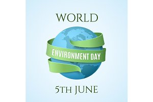 World Environment Day background.
