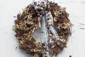 Holiday christian wreath