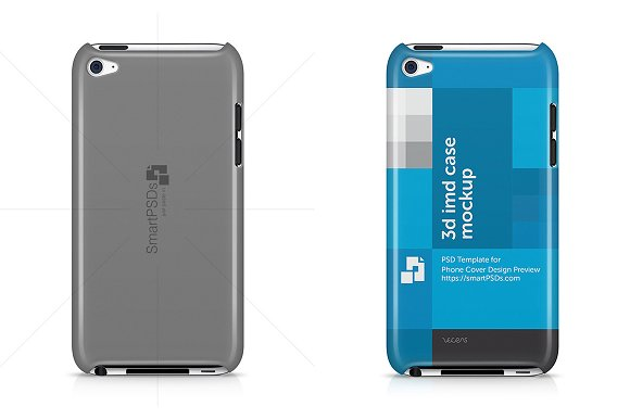 iPod Touch 4 3d IMD Case Mock-up