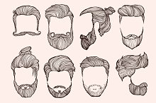 Man's hairstyle.