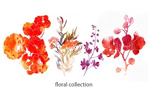 floral and leaves collection